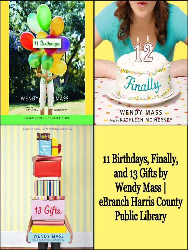 Wendy Mass' Willow Falls/Birthdays Series