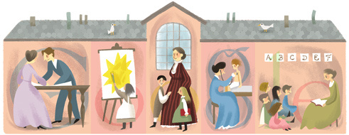 The Doodle celebrating Jane Addams, posted on September 6th, 2013.