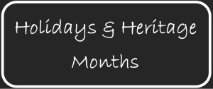 A Listing of Holidays & Heritage Months Posts | Jorie's Reads by Starry Night Elf