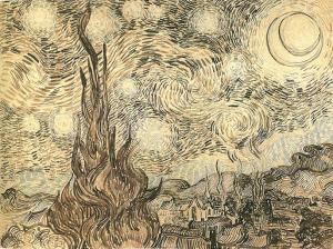 Van Gogh Starry Night Drawing | Wikimedia Commons | Public Domain Mark 1.0